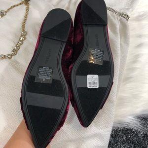 Express Shoes - Express maroon velvet flats